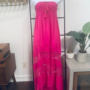 Flying Tomato Bright Pink Maxi Dress
